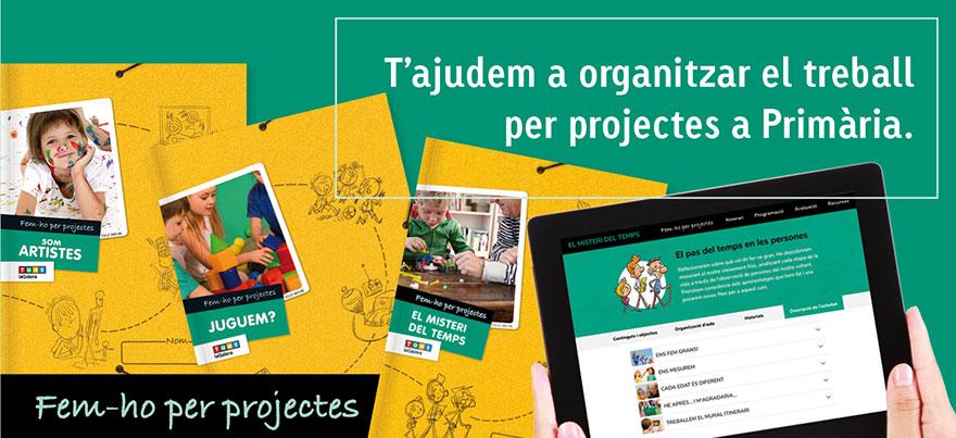 T'ajudem a organitzar el treball  per projectes a Primària.